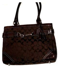 Authentic Coach logo handbag